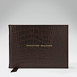 Leather Shooting Record Book