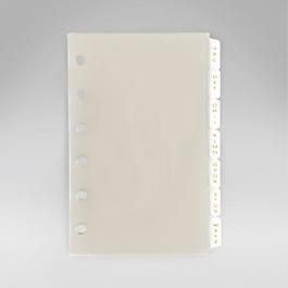 Bijou Organiser A-Z Index Refill