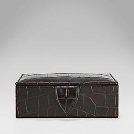 Leather Twin Cufflink Box