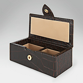 Leather Twin Cufflink Box