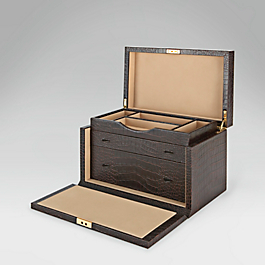 Leather Gentlemen's Accessory Box