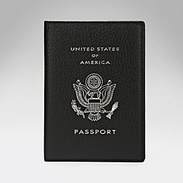 Leather USA Passport Cover