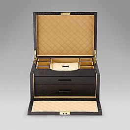 Leather Three Drawer Jewellery Box