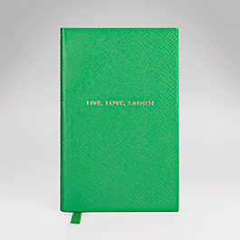 Leather Live, Love, Laugh' Panama Notebook