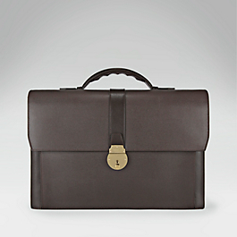 Leather Double Document Case
