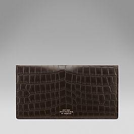 Crocodile Slim Travel Wallet