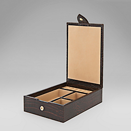 Leather Ladies' Travel Tray Box