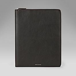 Leather A4 Zipped Folder