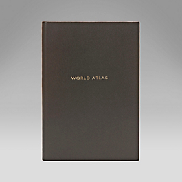 Leather Small Hardbound World Atlas