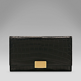 Crocodile Large Continental Purse