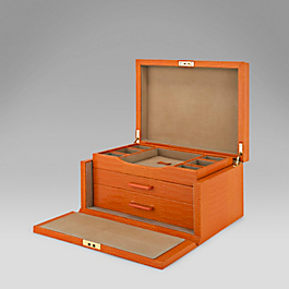 Leather Three Drawer Jewellery Box