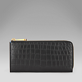 Crocodile Large Slim Purse