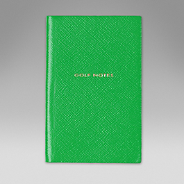 Leather 'Golf notes' panama notebook