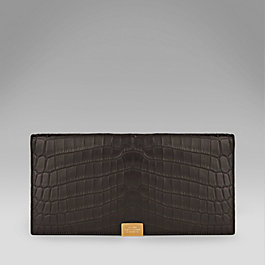 Crocodile Slim Travel Wallet with Slide