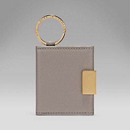 Leather Folding Photograph Key Ring