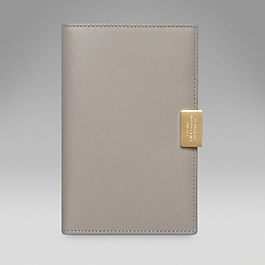 Leather Folding Jotter with Slide