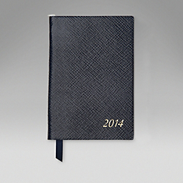 Leather 2014 Wafer Diary with Pencil