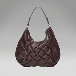 Leather Small Hobo Bag