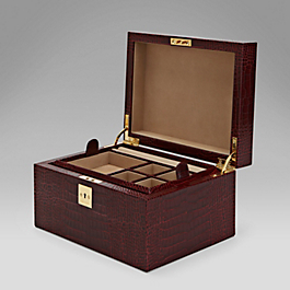 Leather Single Tray Jewellery Box