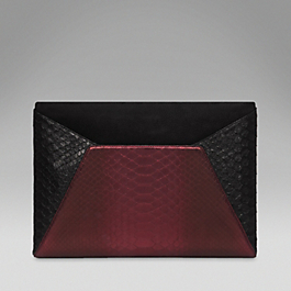 Python Large Envelope Clutch