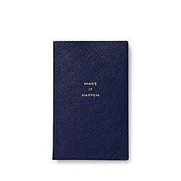 Leather 'Make it Happen' Panama Notebook
