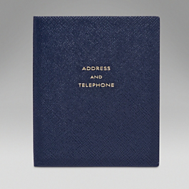 Leather Address and Telephone Premier Book