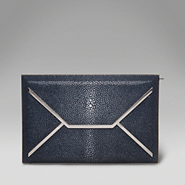 Shagreen Envelope Box Clutch