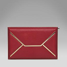 Lizardskin Envelope Box Clutch
