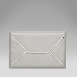 Lizardskin Envelope Box Clutch