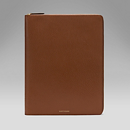 Leather A4 Zipped Folder