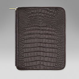 Leather A5 Zipped Folder