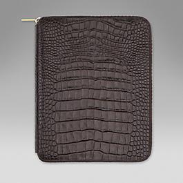 Leather A5 Zipped Folder