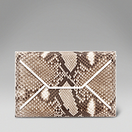 Leather Envelope Box Clutch