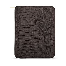 Leather zip folder