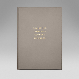 Leather Hardbound 'Brunches, Lunches, Suppers, Dinners'
