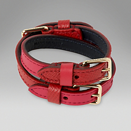 Leather Triple Buckle Bracelet