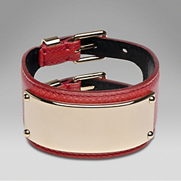 Leather Plaque Bracelet