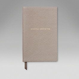 Leather Wishful Drinking' Panama Notebook