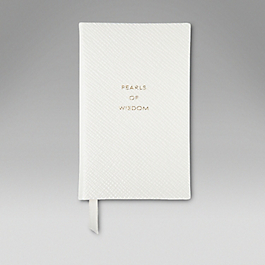 Leather Pearls Of Wisdom' Wafer Notebook