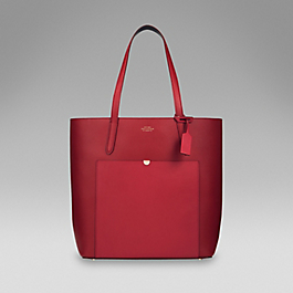 Leather Tall Tote