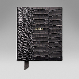 Leather 2015 Fashion Diary Day per Page