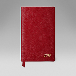 Leather 2015 Panama Diary with bound in Address Book