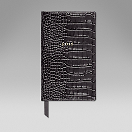Leather 2015 Panama Diary with pocket