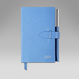 Leather 2015 Panama Diary with pocket and gilt pencil