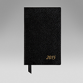 Leather 2015 Wafer Diary with bound in Address Book