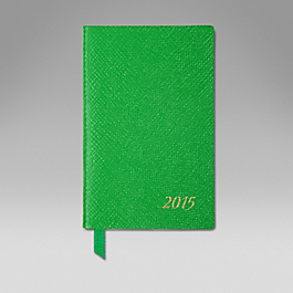 Leather 2015 Wafer Diary with pocket and gilt pencil