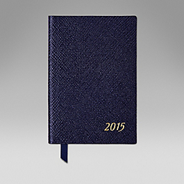 Leather 2015 Wafer Diary with Pencil