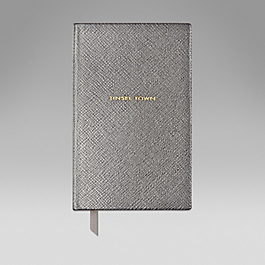 Leather 'Tinsel town' notebook