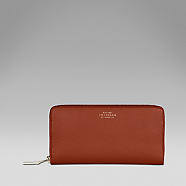 Leather slim purse