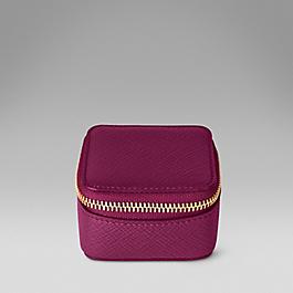 Leather mini trinket case